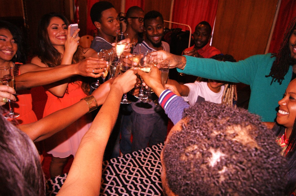 A Royal toast backstage before China Royal Encore Fashion Show at Geoffrey's Inner Circle.