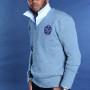 China Royal Men's V-Neck Sweater – Gray