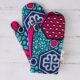 African fabric oven mitts